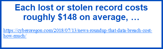 stolen records cost $148 on average